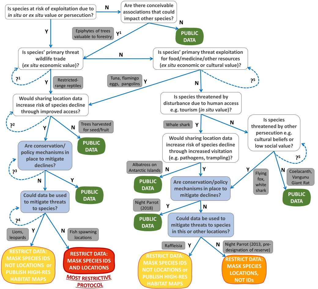 A decision tree to guide decisions about whether to publish primary biodiversity data